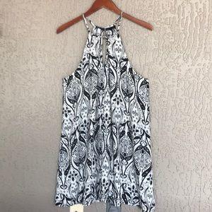 Bebop, floral, sleeveless dress.